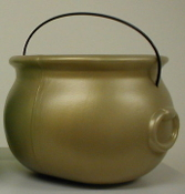"Cauldron Pot-O-Gold 8"" Gold"
