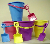 Large Sand Pail With Pastel Shovel