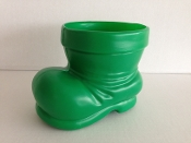 Santa Claus Boot Container Green