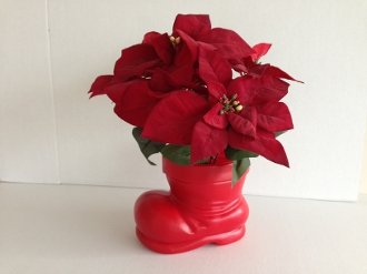 Santa Claus Boot Container Red