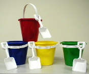 Small Sand Pail with White Shovel